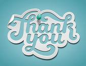 Dank u handtekening — Stockvector