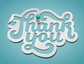 Tack signatur — Stockvektor