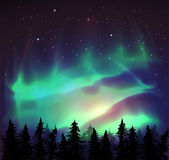 Aurora borealis background — Stock Vector