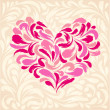 Flourish light background with heart  — Image vectorielle