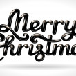 Stock Vector: Merry Christmas hand lettering black signature