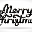 Merry Christmas hand lettering black signature — Stock Vector