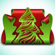 Clipped Christmas tree — Stock Vector