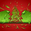 Clipped Christmas tree — Stock Vector #34160805