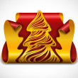 Clipped Christmas tree icon — Stock Vector