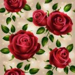 Stock Vector: Roses seamless pattern