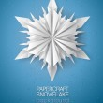 3D snowflake card — Stockvektor