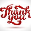 Thank you 3D — Vector de stock #34161423