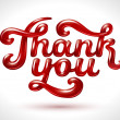 Thank you 3D — Stock Vector