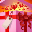 Valentine's Day gift box — Stock Vector