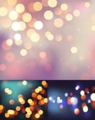Set of realistic bokeh lights — Stock Vector