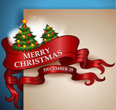 Merry Christmas ribbon banner — Stock Vector