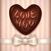 Love you chocolate candy — Stock Vector