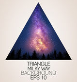 Milky Way triangle background — Stock Vector