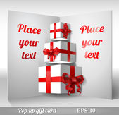 Pop-up gift boxes — Stock Vector