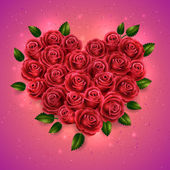 バラの花束 — ストックベクタ