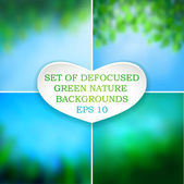 Set of nature backgrounds — Stock Vector