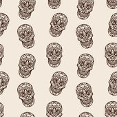Skull seamless pattern — Vector de stock