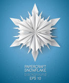 3D snowflake card — Stock Vector