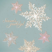Seasons greetings pastel card — Stock Vector