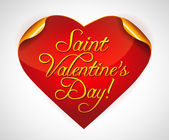 Valentine's day heart-shaped sticker — Vector de stock