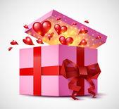 Valentine's Day gift box — Stock Vector