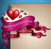 Valentine's Day banner — Stock Vector