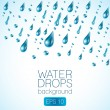 Realistic waterdrops — Stock Vector