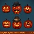 Halloween pumpkin icon set — Stock Vector #34397475