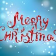 merry christmas belettering — Stockvector  #34397629