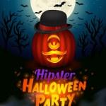 Halloween cyclope vampire poster — Stock Vector