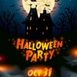 Halloween house party poster — Stock Vector