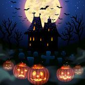 Halloween house — Stock Vector
