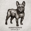 Hand drawn french bulldog — Stock Vector