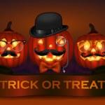 Halloween pumpkin hipster icon set — Stock Vector #42793173