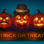 Halloween pumpkin hipster icon set — Stock Vector #42793177