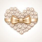 Valentine's Day pearl heart — Vecteur
