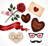 Valentine's Day icon set — Stock Vector
