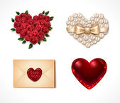 Valentine's Day icon set — Stock Vector