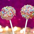 Cake pops decorated with colorful sprinkles — Stock Photo #21693271