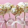 Cake pops decorated with colorful sprinkles — Foto Stock