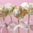 Cake pops decorated with colorful sprinkles — Stock Photo #21693741