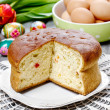 Stock Photo: Yeast cake