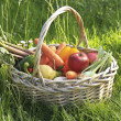 Basket of fruits and vegetables — Stock Photo