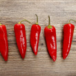Red hot chili peppers — Stock Photo #23724203