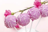 Pink cake pops — Stock Photo