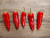 Red hot chilli peppers — Foto Stock