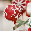 Cake pops - a form of cake styled as a lollipop, invented in USA — Stock Photo