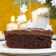 Danish cake and traditional danish christmas paper stars - Stock Photo