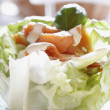Freshness Salmon Salad with Home Made Sauce — Stock Photo